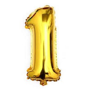 "Gold 40"" - Giant 1 One Mylar Number Letter Balloons Birthday Big Balloon Party Table Centerpiece"