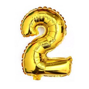 "Gold 40"" - Giant 2 Two Mylar Number Letter Balloons Birthday Big Balloon Party Table Events Centerpiece"