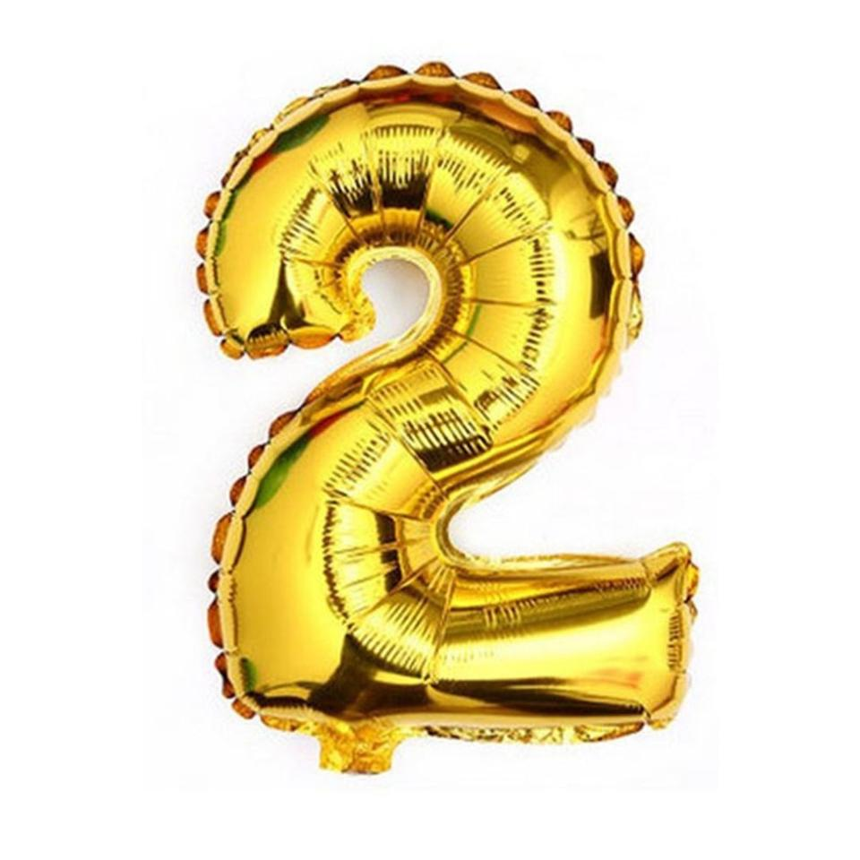 gold 40 giant 2 two mylar number letter balloons birthday big balloon party table centerpiece