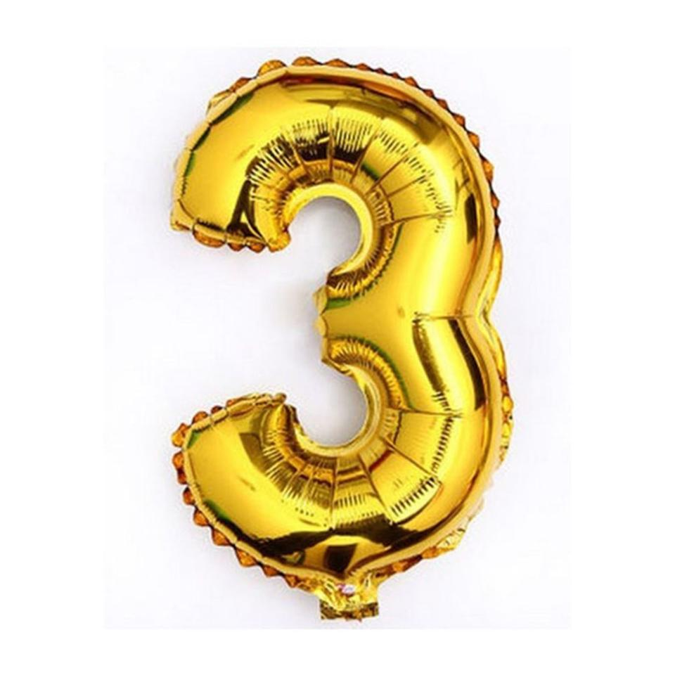 gold 40 giant 3 mylar number letter balloons birthday big balloon party table centerpiece