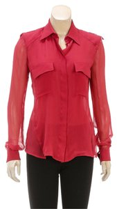Tom Ford Button Down Shirt Red