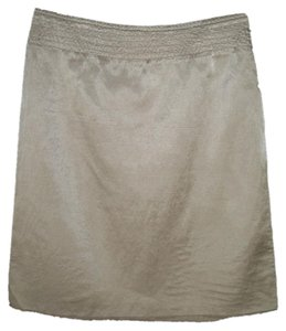 Maison Margiela Silver Metallic Sateen Skirt