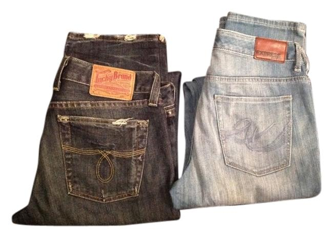 Item - Distressed 2 Pairs Express Long Skinny Jeans Size 29 (6, M)