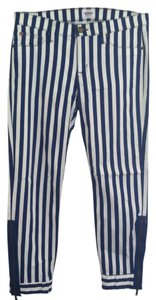 Hudson Jeans Capris Bright Blue White