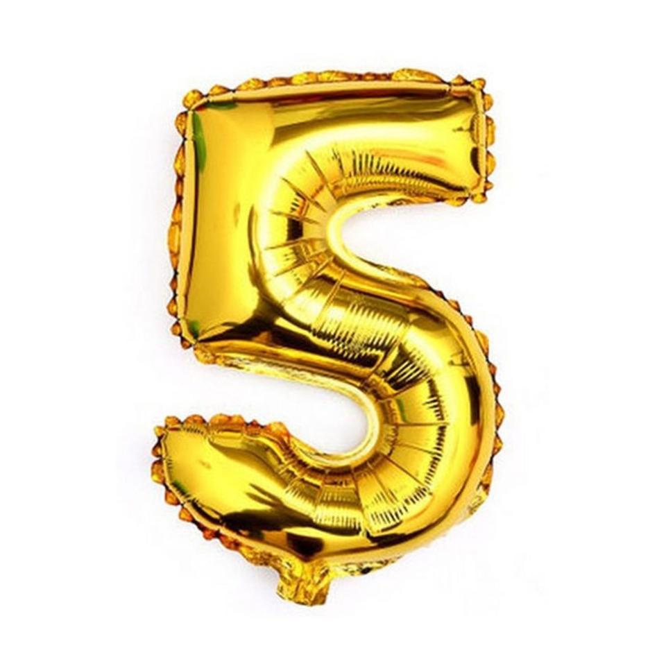 gold 40 giant 5 five mylar number letter balloons birthday big balloon party table centerpiece
