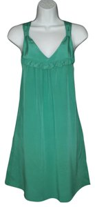 Rory Beca short dress Silk Teal Mini on Tradesy