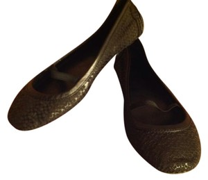 Coach Leather Laser Monogram Mary Jane Black Flats