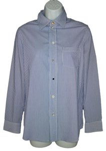 Haute Hippie Cotton Striped Artsy Button Down Shirt