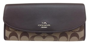 Coach Slim Envelope Wallet in 12CM Signature Crossgrain Leather