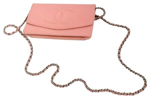 Chanel Pink Caviar Wallet On Chain WOC Crossbody