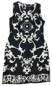 Banana Republic Silk Sleeveless Scrolls Dress