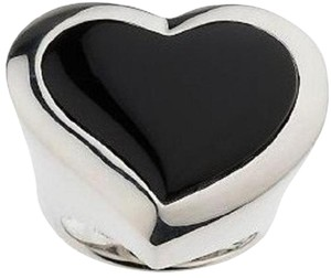 Arte d' Argento Arte d' Argento Sterling Silver Black Onyx Polished Heart Ring - Size 6