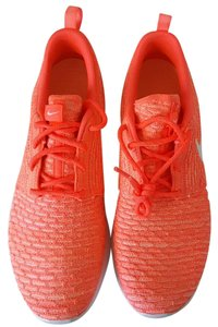 Nike Womens Platinum Flyknit Orange Athletic