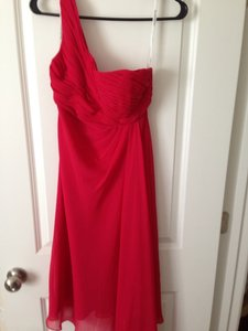 David's Bridal Red Dress