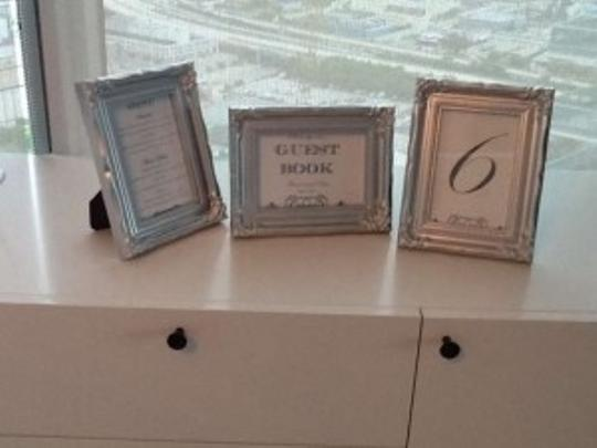 Silver 15 Vintage Style 4x6 Frames Reception Decoration