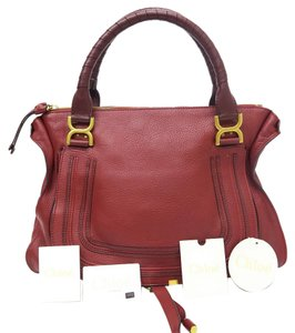 Chloé Large Marcie Red Leather Hobo Bag