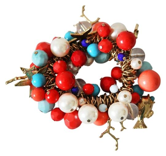Other Turquoise and Coral Charm Bracelet
