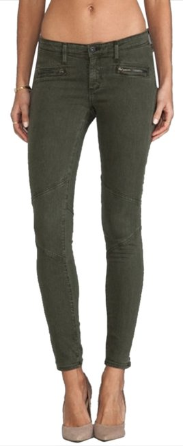 Item - Green Medium Wash Moto Leggings Skinny Jeans Size 25 (2, XS)