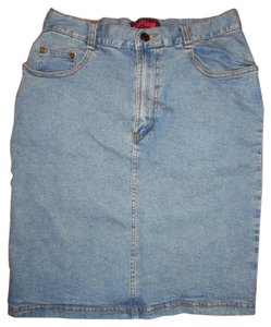 STAFFGANG Denim Jean Stretchy Skirt Light Blue