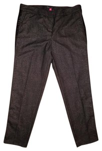 Vince Camuto Leather Stripe Heather Black Career Work Pants