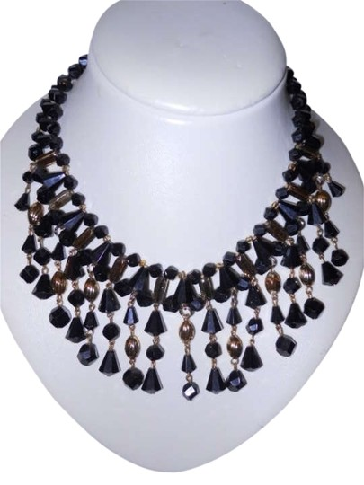 Preload https://img-static.tradesy.com/item/171044/black-and-gold-vintage-marked-necklace-0-0-540-540.jpg