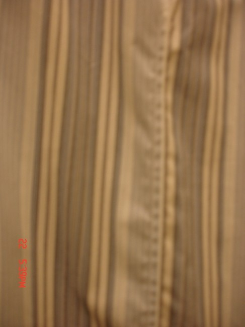 Old Navy Button Down Shirt White background with Black & Blue stripes
