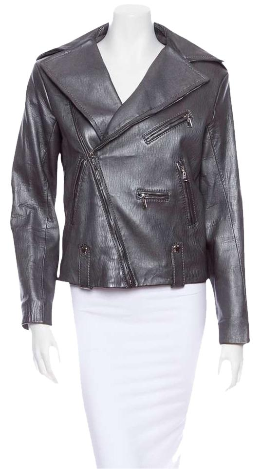 Louis Vuitton Motorcycle Moto Silver Leather Jacket