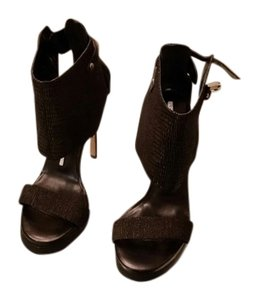 Camilla Skovgaard London Embossed Leather Harness black leather Sandals