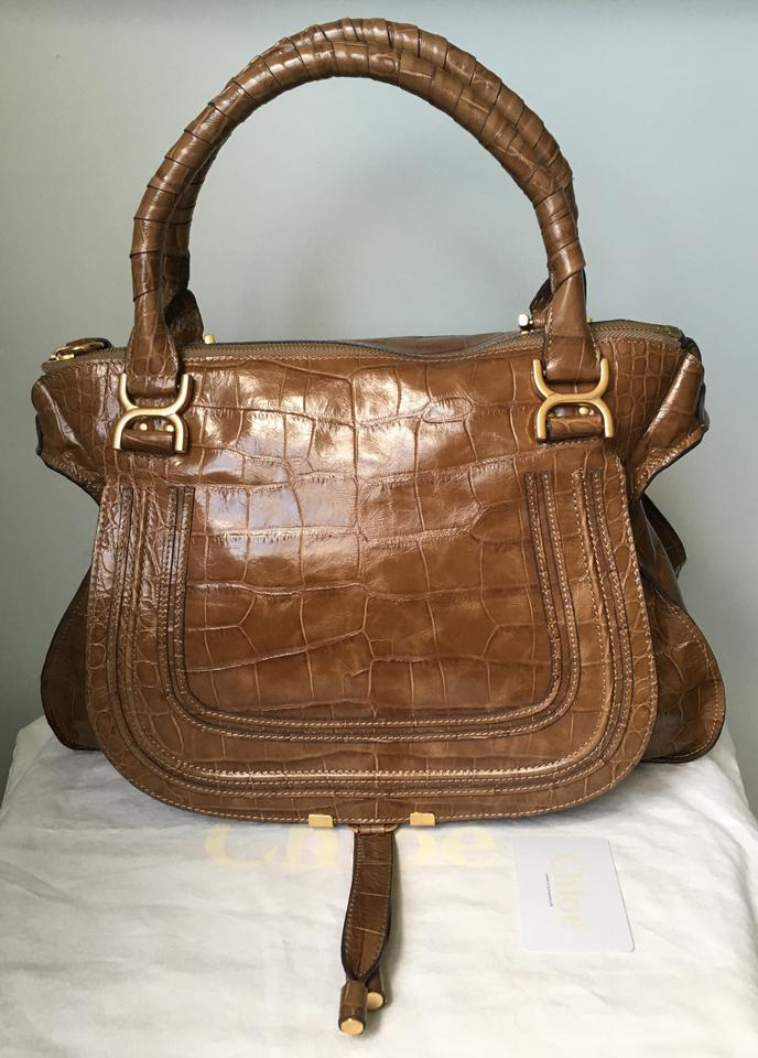 chloe knockoff bags - Chlo�� Large Marcie Embossed Croc Nut Beige Chloe Tote Bag on Sale ...