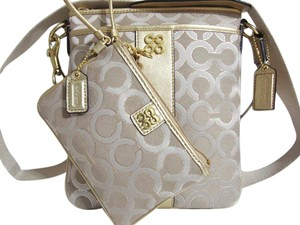Coach C Signature Canvas Cross Body Bag