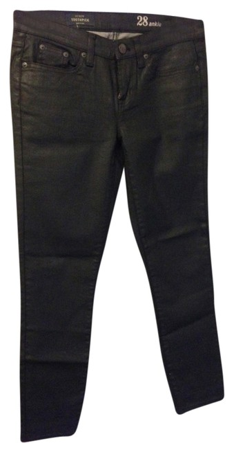 Item - Black Coated Toothpick Skinny Jeans Size 28 (4, S)