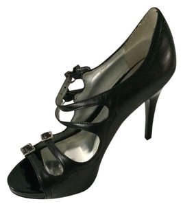 Carlos by Carlos Santana Strappy Open Toe Black Pumps