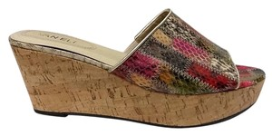 Vaneli Snake Skin Cork multicolor Wedges