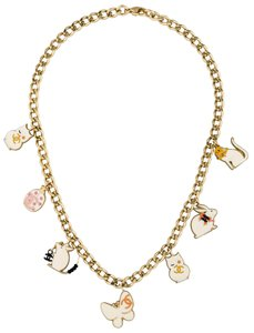 Chanel Gold-tone Chanel interlocking CC animal charm necklace