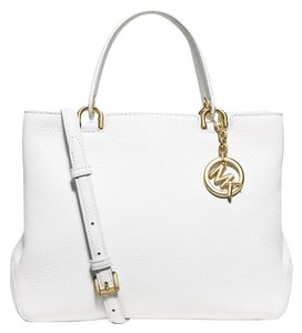 Michael Kors Large Tote in Optic White