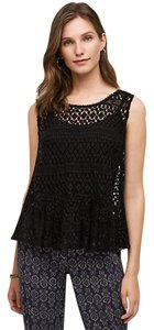 Anthropologie Anthro Tie Vest Tiny Top black