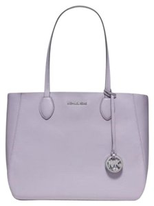 Michael Kors Mae Tote in Lilac/Silver