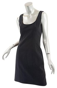 Isaac Mizrahi short dress Black Sheath Tank Stretch on Tradesy