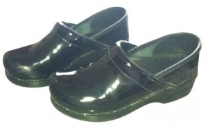 Dansko Professional Black Patent Leather Mules