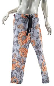 Marni Narrow Leg Crop Capri/Cropped Pants Floral Multi