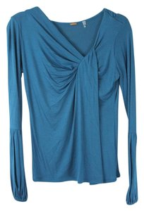 Elie Tahari Long Sleeve Top Azure Blue