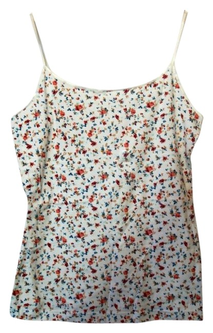 Arizona Multicolor XL Cream Floral Patten Extra Large Tank Top/Cami Size 16 (XL, Plus 0x) Arizona Multicolor XL Cream Floral Patten Extra Large Tank Top/Cami Size 16 (XL, Plus 0x) Image 1