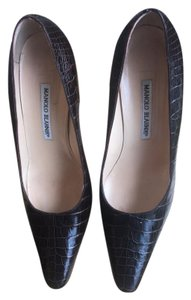 Manolo Blahnik Brown Alligator Pumps