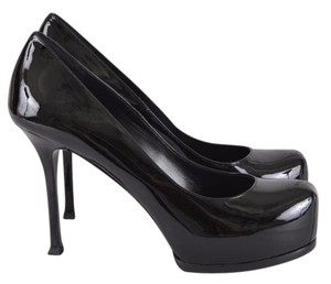 Saint Laurent Pumps Platforms Black Athletic