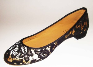 Talbots black/gold Flats