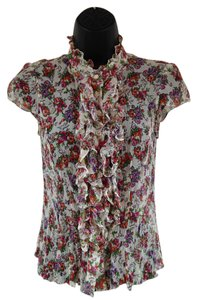 Nanette Lepore Chiffon Top White and floral