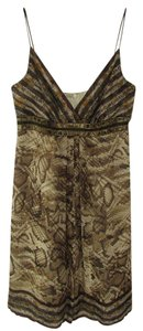 Carmen Marc Valvo short dress Brown on Tradesy