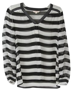 Brooks Brothers Top Black and White