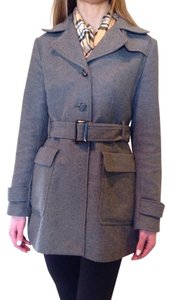 Banana Republic Wool Trench Coat Grey Jacket