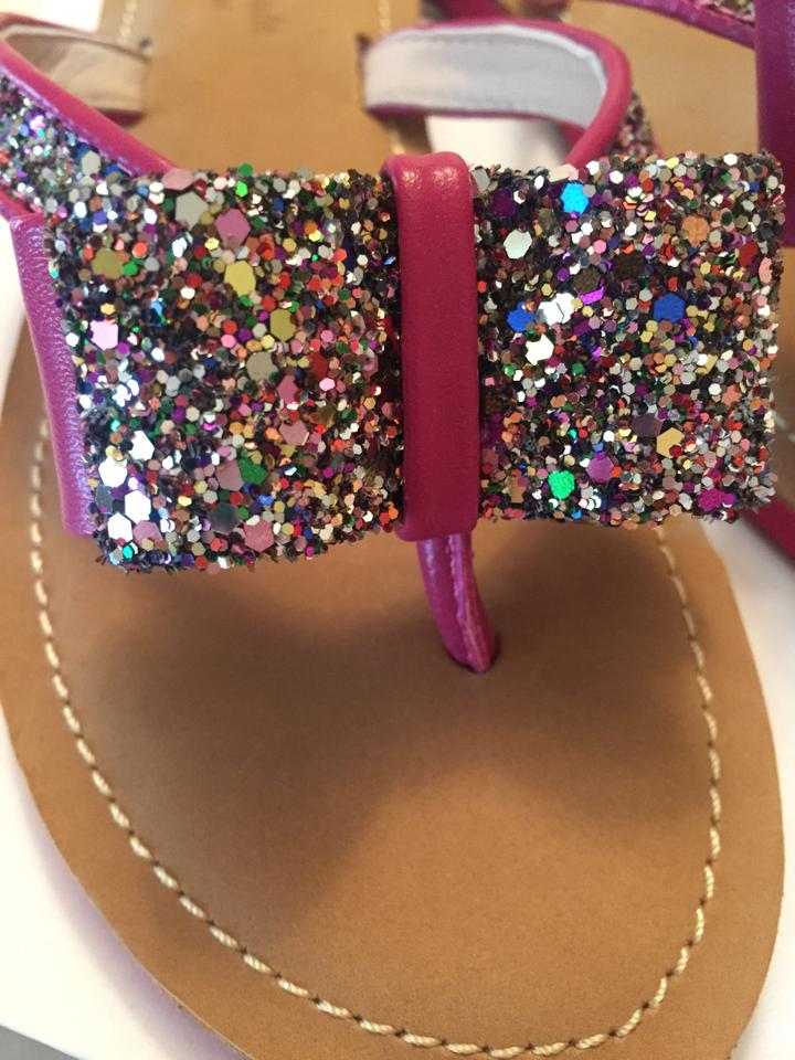 5225708fb99977 Kate Spade Multi Glitter Deep Pink Icarda Sandals Size US 7.5 ...